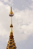 Het uiteinde van gouden pagode Royalty-vrije Stock Afbeeldingen