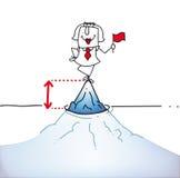 Het uiteinde van het ijs Berg vector illustratie