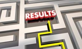 Het Uiteindelijke doel Maze Outcome van het resultatenbereik Royalty-vrije Stock Afbeeldingen
