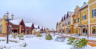 Het uiterst kleine de winterpark Stock Afbeelding