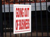 Het uitgaan van Bedrijfsteken signaleert een Verkoop Stock Afbeeldingen