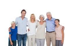 Het uitgebreide familie gesturing stock foto
