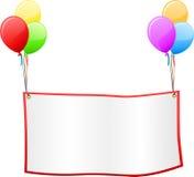 Het uithangbord van de ballon Royalty-vrije Stock Afbeeldingen