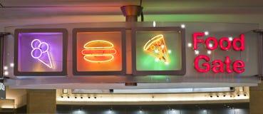 Het Uithangbord van de voedselpoort Stock Fotografie