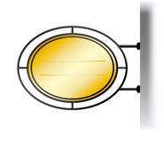 Het uithangbord van het metaal in de stijl van Europa vector illustratie