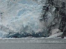 Het uithollen van gletsjer. stock afbeeldingen