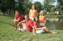 Het uitje van de familie Stock Foto's