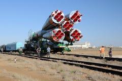 Het Uitlooptraject van de Hulpraket van Soyuz stock afbeeldingen