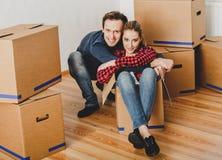 Het uitpakken in nieuw huis royalty-vrije stock foto's
