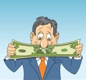 Het uitrekken van een Dollar Royalty-vrije Stock Afbeeldingen