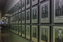 Het uitroeiingskamp van Auschwitz, Polen stock foto