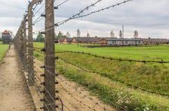 Het uitroeiingskamp van Auschwitz, Polen stock afbeelding