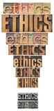 Het uitroepteken van de ethiek stock foto