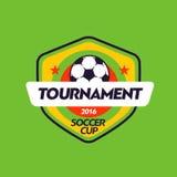 Het uitstekende Afrikaanse embleem van het het voetbalkampioenschap van de kleurenvoetbal - teamkenteken Royalty-vrije Stock Fotografie