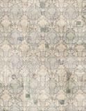 Het uitstekende antieke document van het damastplakboek Royalty-vrije Stock Afbeelding