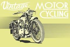 Het uitstekende art. van de motorfietsillustratie royalty-vrije stock foto's