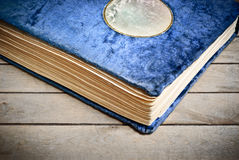 Het uitstekende blauw van de het albumdekking van de Foto stock fotografie
