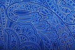 Het uitstekende blauwe behang van Paisley Stock Afbeeldingen