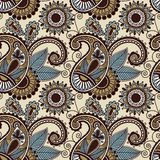 Het uitstekende bloemen naadloze patroon van Paisley Royalty-vrije Stock Fotografie