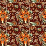Het uitstekende bloemen naadloze patroon van Paisley Stock Afbeeldingen