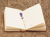 Het uitstekende boek en de Lavendel Royalty-vrije Stock Fotografie