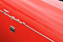 Het uitstekende Britse detail van het sportwagen zijstootkussen Royalty-vrije Stock Afbeeldingen