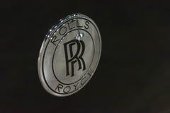 Het uitstekende cirkelembleem van Rolls-Royce Phantom Stock Afbeeldingen