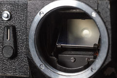 Het uitstekende close-up van de filmcamera Stock Afbeelding