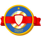 Het uitstekende 3D etiket van de Premiekwaliteit Royalty-vrije Stock Afbeeldingen