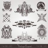 Het uitstekende element van de stijlgravure Royalty-vrije Stock Afbeelding