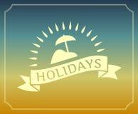 Het uitstekende embleem van de de zomervakantie met kader Stock Foto