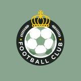 Het uitstekende embleem van het het voetbalkampioenschap van de kleurenvoetbal - teamkenteken Stock Afbeeldingen