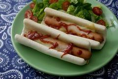 Het Uitstekende etiket van hotdogs Royalty-vrije Stock Foto's