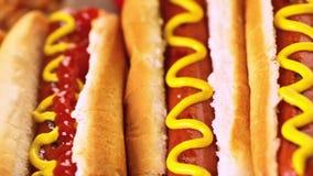 Het Uitstekende etiket van hotdogs stock video
