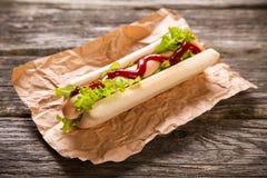 Het Uitstekende etiket van hotdogs Royalty-vrije Stock Foto