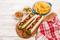 Het Uitstekende etiket van hotdogs Royalty-vrije Stock Fotografie