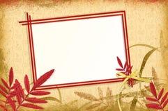 Het uitstekende frame van de herfst op een grungeachtergrond Stock Foto's