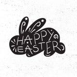 Het uitstekende Gelukkige Pasen-van letters voorzien Stock Fotografie