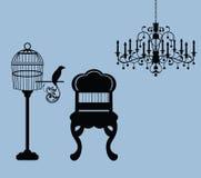 Het uitstekende grafische verwante huis van ontwerpelementen   Royalty-vrije Stock Afbeelding