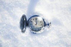 Het uitstekende horloge lag Royalty-vrije Stock Foto's
