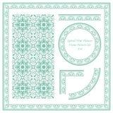 Het uitstekende Kaderpatroon plaatste 038 Spiraalvormige Wijnstokbloem Royalty-vrije Stock Afbeelding
