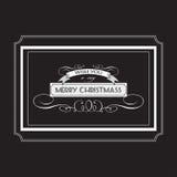 Het uitstekende Kerstmiskrijt van letters voorzien Royalty-vrije Stock Foto