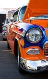 Het uitstekende klassieke vooreind van de auto hete staaf stock foto's