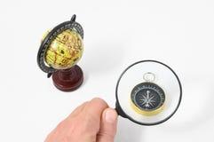 Het uitstekende Kompas van de Hulpmiddelenbol Stock Foto's