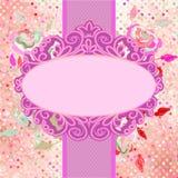 Het uitstekende malplaatje van de polka dor bloemenkaart EPS 8 royalty-vrije illustratie