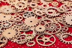 Het uitstekende Mechanische Tandrad past Wielen aan Royalty-vrije Stock Afbeelding