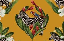 Het uitstekende Mooie en in Naadloze Actuele ontwerp van het de Zomerpatroon in super hoge resolutie De Textuur van de patroondec royalty-vrije stock afbeeldingen