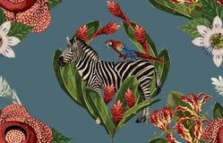 Het uitstekende Mooie en in Naadloze Actuele ontwerp van het de Zomerpatroon in super hoge resolutie De Textuur van de patroondec royalty-vrije stock foto