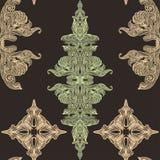 Het uitstekende naadloze patroon van de Victoriaanse kantpastelkleur Royalty-vrije Stock Foto