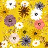 Het uitstekende naadloze patroon van de Vrijheidsbloem, het Zachte in bloeien Stock Foto's